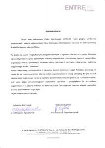 Rekomendacja Zarządu ENTRE.PL Team