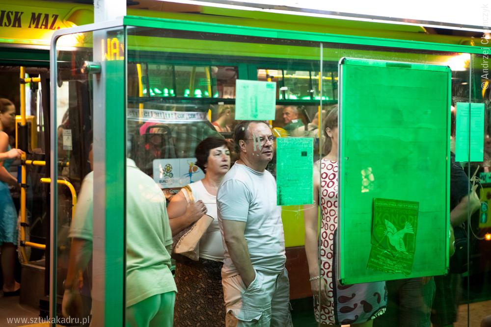 Przystanek autobusowu przy Krakowskim Przedmieściu